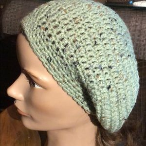 Green slouchy hat winter slouchy beanie